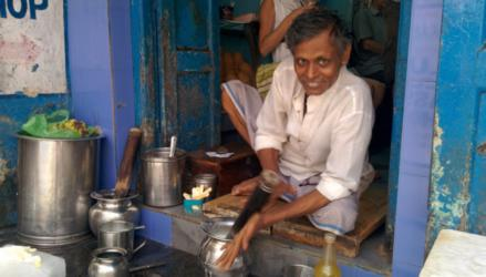 Man making our Lassi