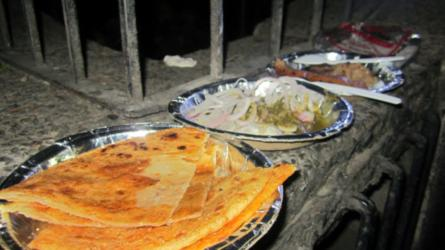 Butter-milk roti, pickled onions @ Al Kakori Al Kauser