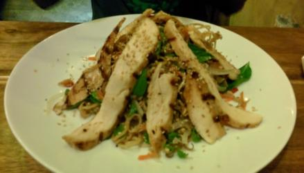Banana Blossom Salad with Grilled Chicken